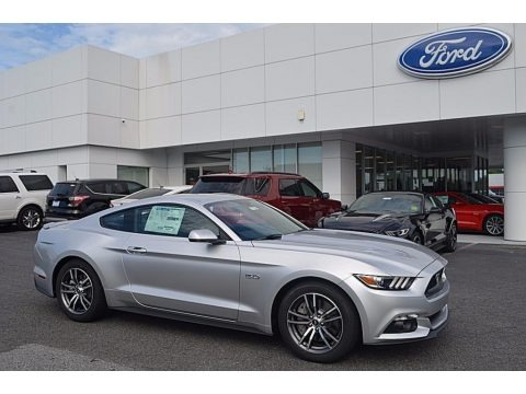 Ingot Silver 2017 Ford Mustang GT Premium Coupe