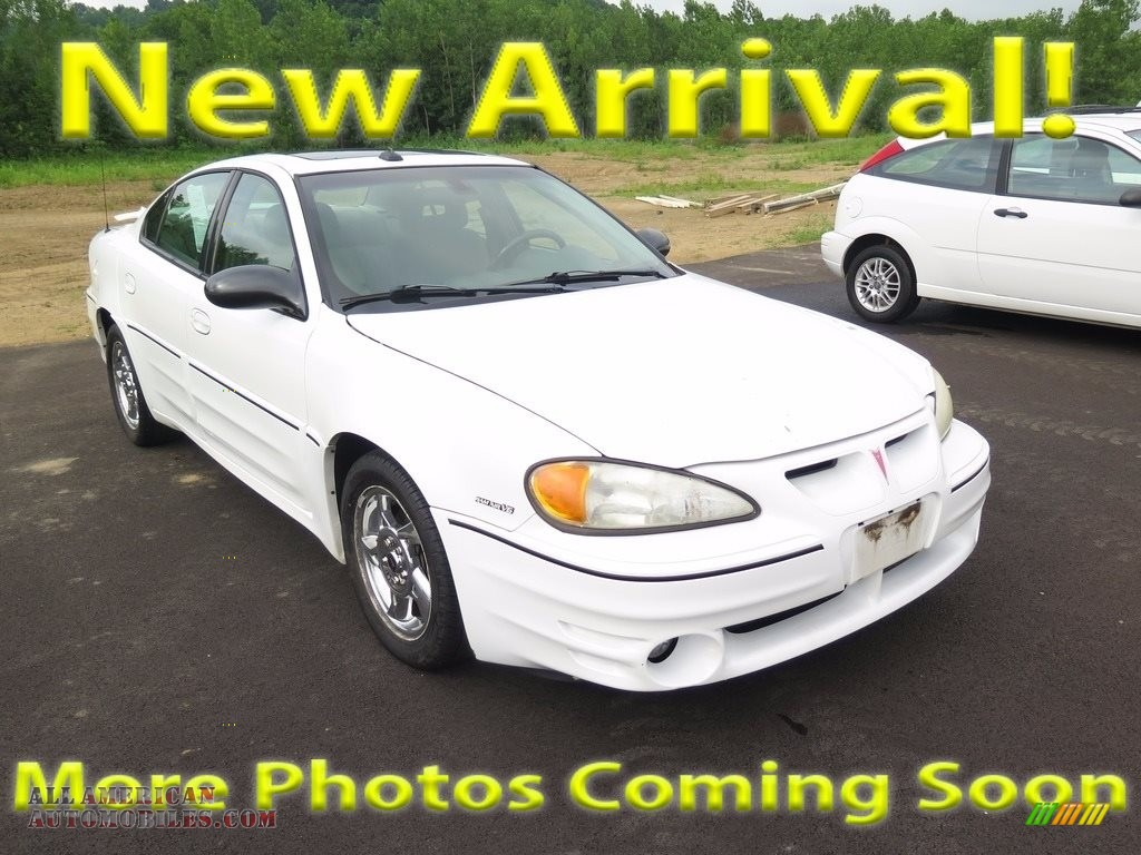 2003 Grand Am GT Sedan - Summit White / Dark Pewter photo #1