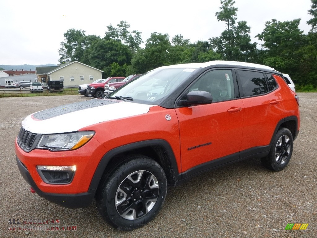 2017 jeep compass trailhawk 4x4 in spitfire orange 666839 all american automobiles buy. Black Bedroom Furniture Sets. Home Design Ideas