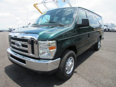 Forest Green Metallic 2009 Ford E Series Van E350 Super Duty XLT Extended Passenger