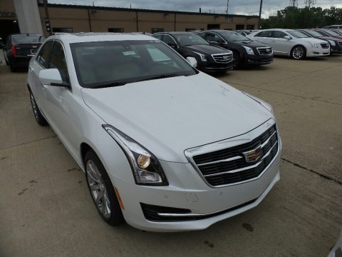 Crystal White Tricoat 2017 Cadillac ATS Luxury AWD