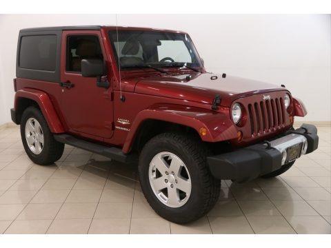 Deep Cherry Red Crystal Pearl 2011 Jeep Wrangler Sahara 4x4