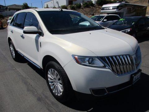 White Platinum Tri-Coat 2013 Lincoln MKX FWD