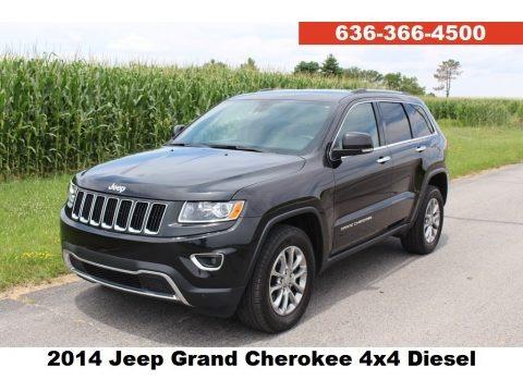 Brilliant Black Crystal Pearl 2014 Jeep Grand Cherokee Limited 4x4
