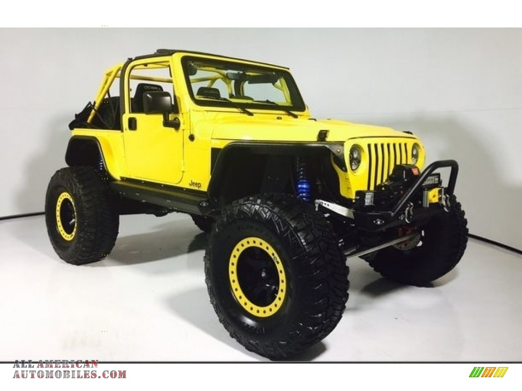 2002 Wrangler Sport 4x4 - Solar Yellow / Agate Black photo #1