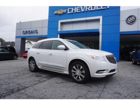 White Frost Tricoat 2016 Buick Enclave Premium AWD