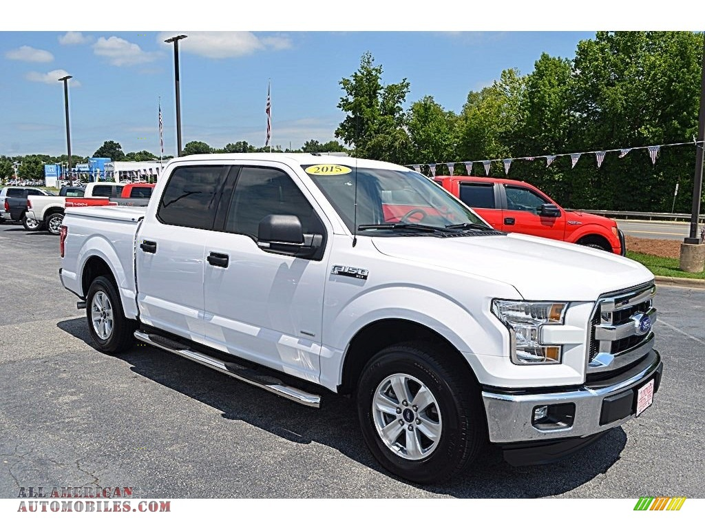 2015 ford f150 xlt supercrew in white platinum tricoat e96106 all american automobiles buy. Black Bedroom Furniture Sets. Home Design Ideas