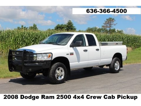 Bright White 2008 Dodge Ram 2500 SLT Quad Cab 4x4