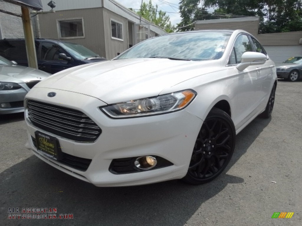 2014 ford fusion titanium in oxford white 281501 all american automobiles buy american. Black Bedroom Furniture Sets. Home Design Ideas