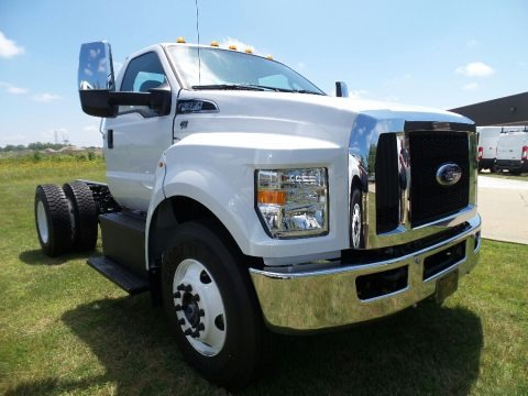 Oxford White 2017 Ford F650 Super Duty Regular Cab Chassis