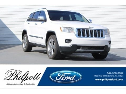 Bright White 2013 Jeep Grand Cherokee Limited
