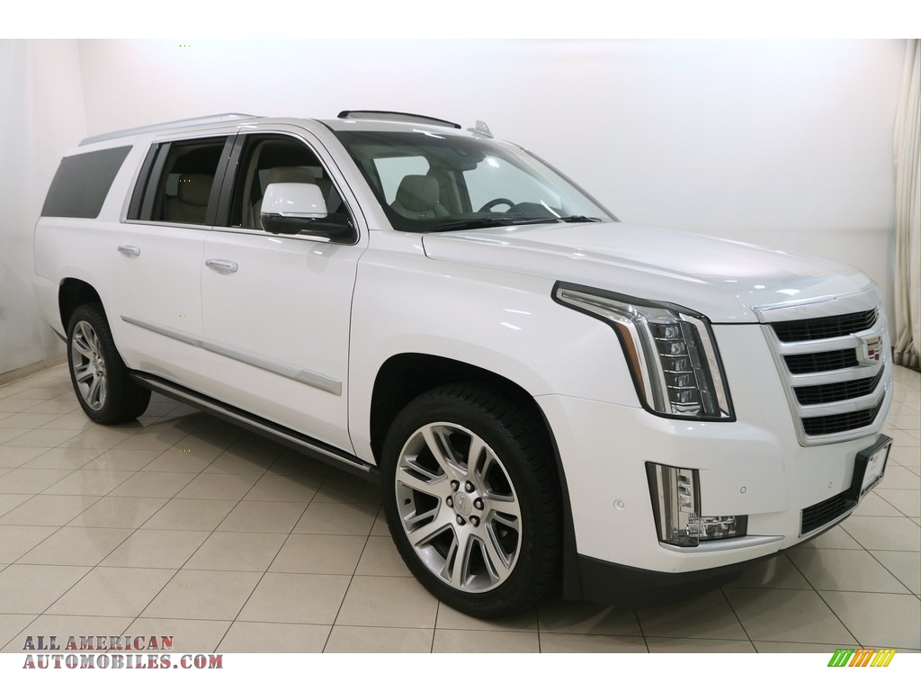 2017 cadillac escalade esv 4wd in crystal white tricoat 146486 all american automobiles. Black Bedroom Furniture Sets. Home Design Ideas