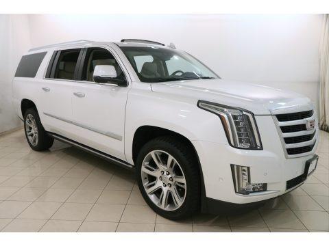 Crystal White Tricoat 2017 Cadillac Escalade ESV 4WD