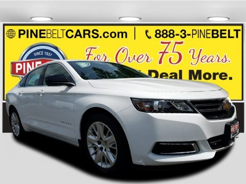 Summit White 2018 Chevrolet Impala LS