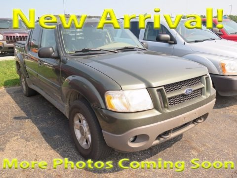 Estate Green Metallic 2001 Ford Explorer Sport Trac 4x4