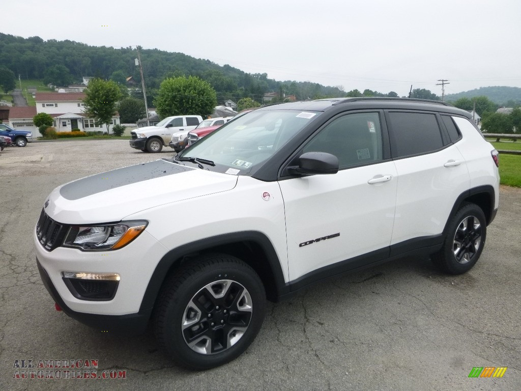 2017 jeep compass trailhawk 4x4 in bright white 659564 all american automobiles buy. Black Bedroom Furniture Sets. Home Design Ideas