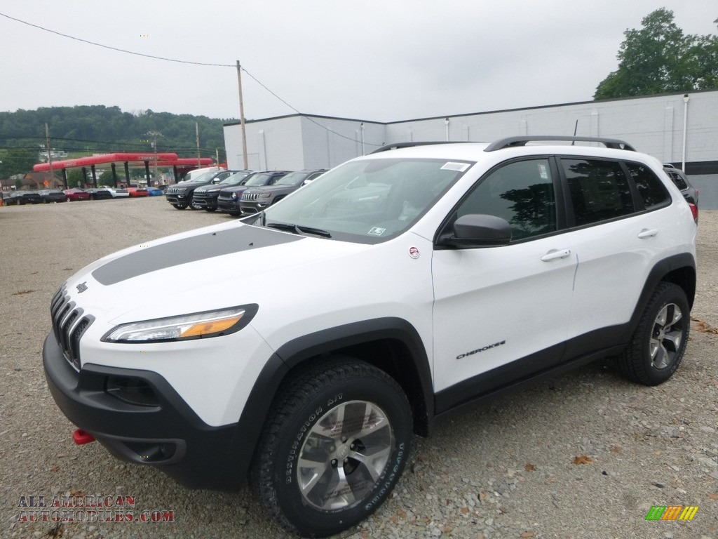 2017 jeep cherokee trailhawk 4x4 in bright white 220135 all american automobiles buy. Black Bedroom Furniture Sets. Home Design Ideas