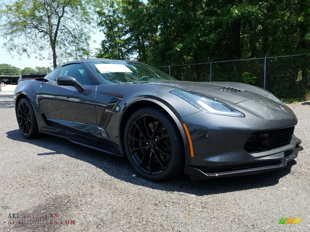 2017 Corvette Grand Sport Coupe - Watkins Glen Gray Metallic / Jet Black photo #1