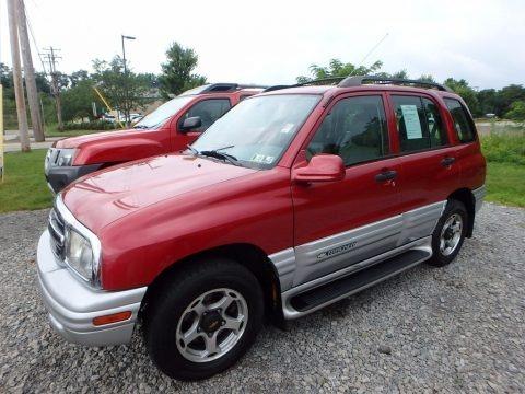 Sunset Red Metallic 2001 Chevrolet Tracker LT Hardtop 4WD
