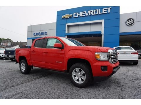 Cardinal Red 2017 GMC Canyon SLE Crew Cab