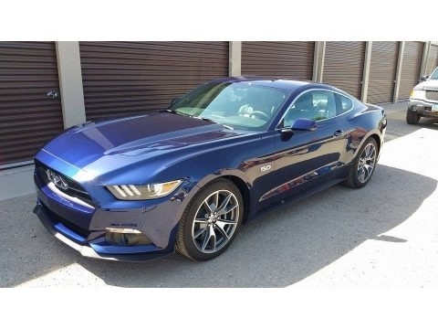 50th Anniversary Kona Blue Metallic 2015 Ford Mustang 50th Anniversary GT Coupe