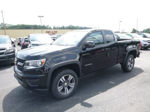 Black 2017 Chevrolet Colorado WT Extended Cab 4x4
