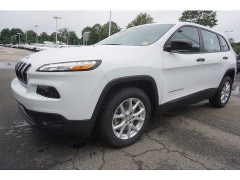 Bright White 2017 Jeep Cherokee Sport