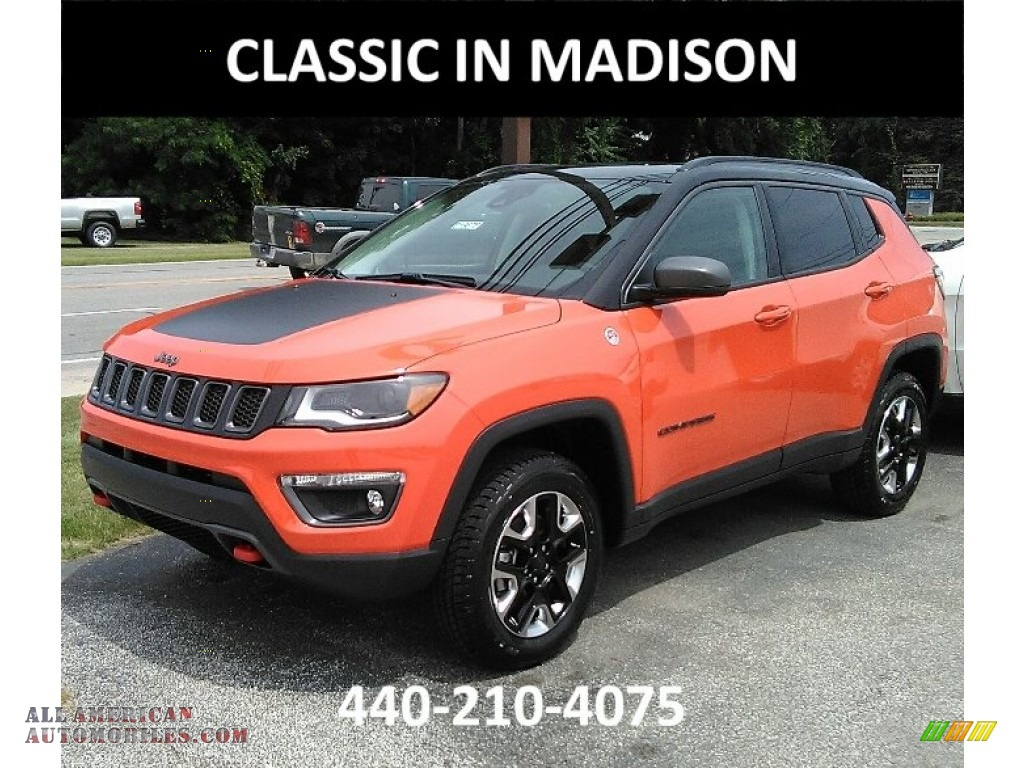 2017 Jeep Compass Trailhawk 4x4 In Spitfire Orange