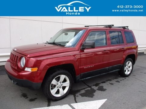 Deep Cherry Red Crystal Pearl 2011 Jeep Patriot Latitude 4x4
