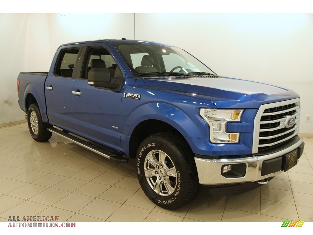 2015 ford f150 xl supercrew 4x4 in blue flame metallic c49351 all american automobiles buy. Black Bedroom Furniture Sets. Home Design Ideas