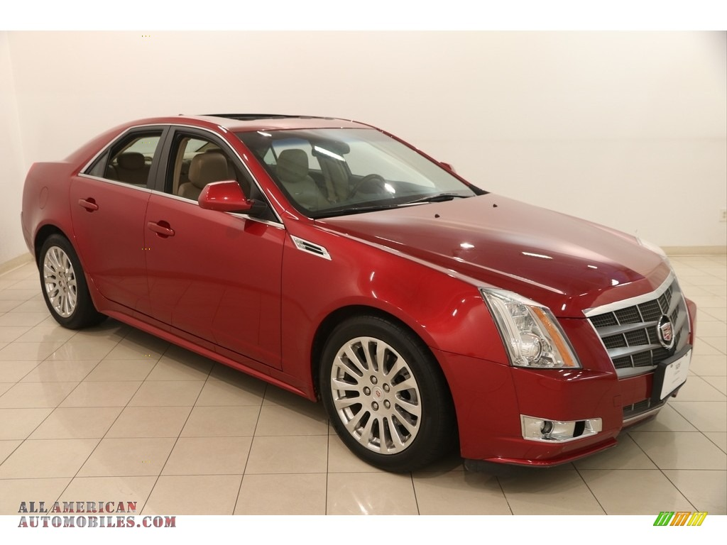 2010 CTS 4 3.6 AWD Sedan - Crystal Red Tintcoat / Cashmere/Cocoa photo #1