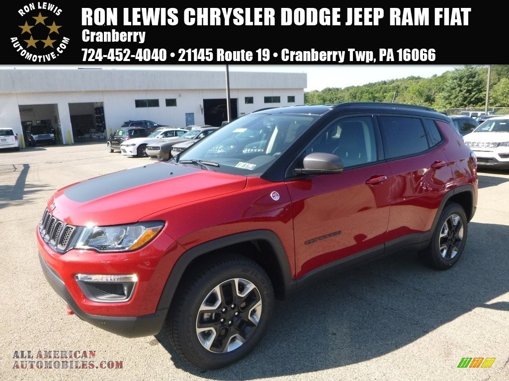 Ron Lewis Dodge >> 2017 Jeep Compass Trailhawk 4x4 in Redline 2 Coat Pearl - 659565 | All American Automobiles ...