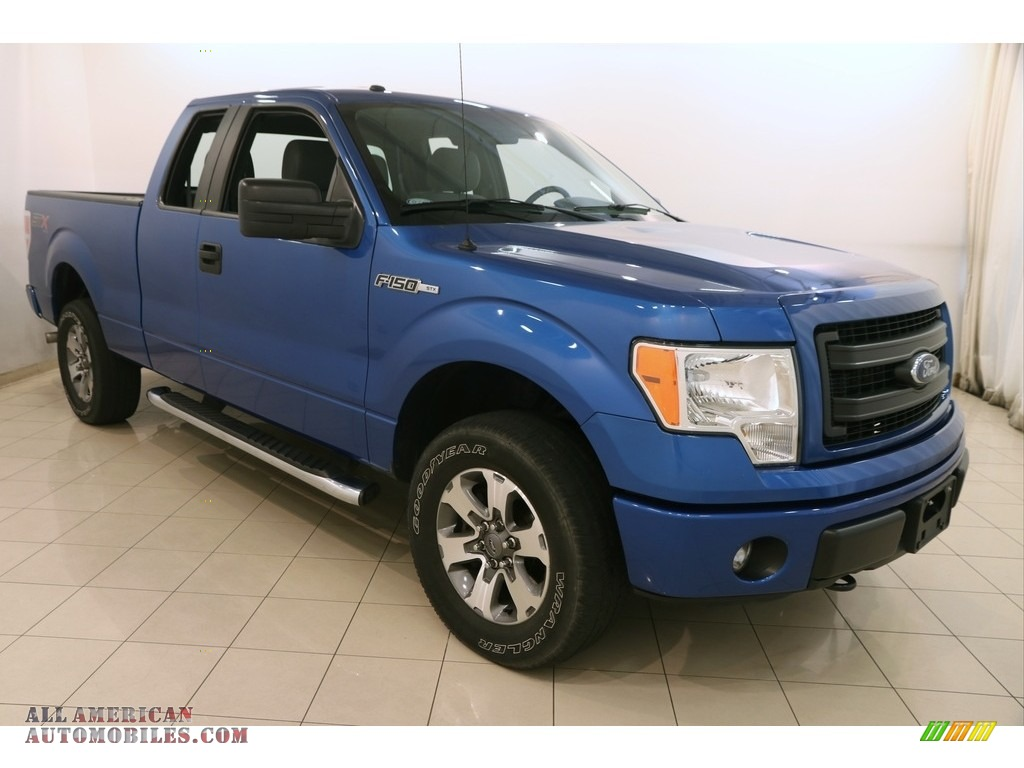 2014 ford f150 stx supercab 4x4 in blue flame f71091 all american automobiles buy american. Black Bedroom Furniture Sets. Home Design Ideas
