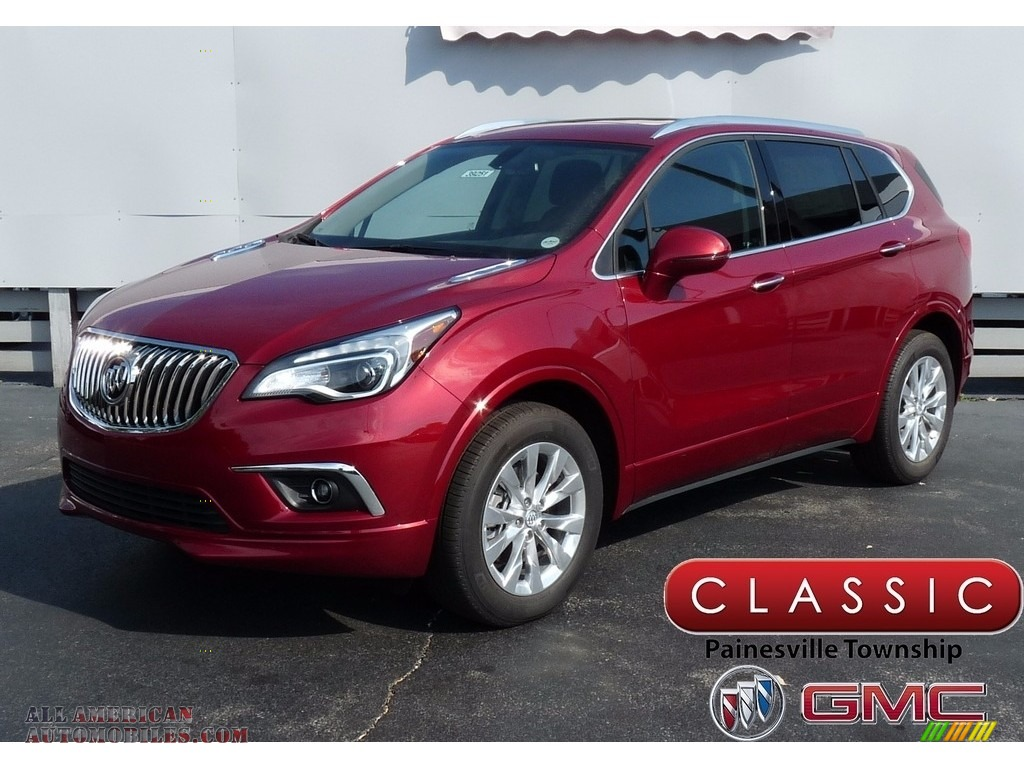 2017 buick envision essence awd in chili red metallic 040439 all american automobiles buy. Black Bedroom Furniture Sets. Home Design Ideas