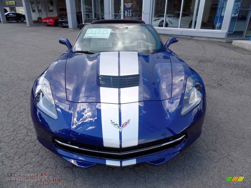 2018 Corvette Stingray Convertible - Admiral Blue Metallic / Gray photo #3