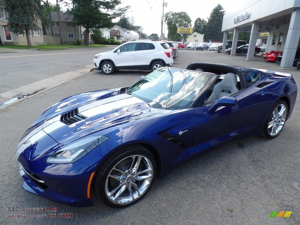 2018 Corvette Stingray Convertible - Admiral Blue Metallic / Gray photo #4