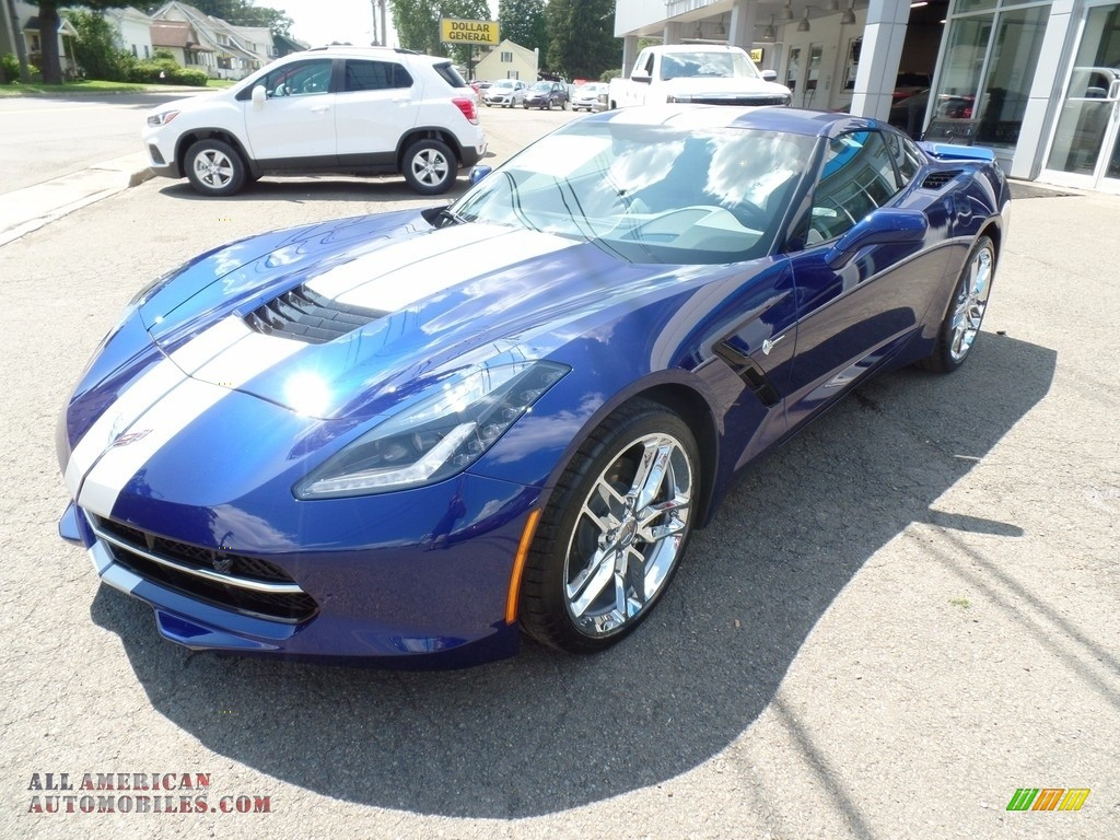 2018 Corvette Stingray Convertible - Admiral Blue Metallic / Gray photo #5