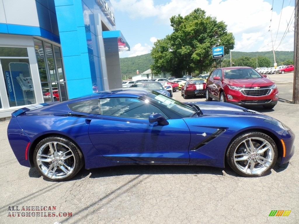 2018 Corvette Stingray Convertible - Admiral Blue Metallic / Gray photo #8