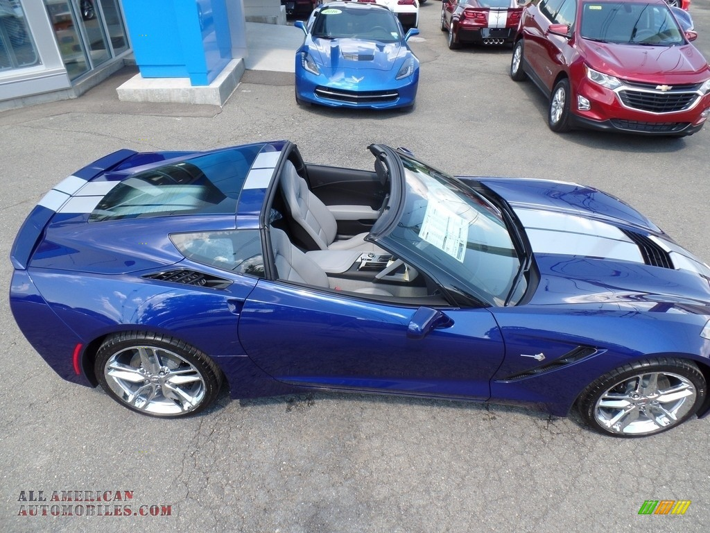 2018 Corvette Stingray Convertible - Admiral Blue Metallic / Gray photo #18