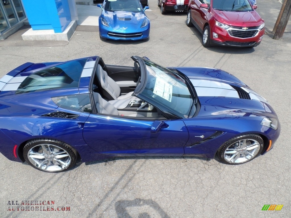 2018 Corvette Stingray Convertible - Admiral Blue Metallic / Gray photo #19