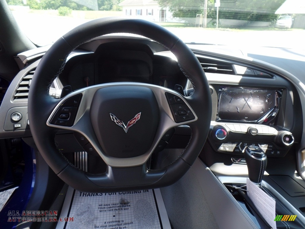 2018 Corvette Stingray Convertible - Admiral Blue Metallic / Gray photo #27