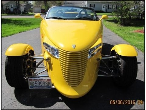 Prowler Yellow 1999 Plymouth Prowler Roadster