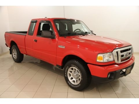 Torch Red 2011 Ford Ranger XLT SuperCab 4x4