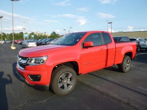 Red Hot 2017 Chevrolet Colorado WT Extended Cab 4x4