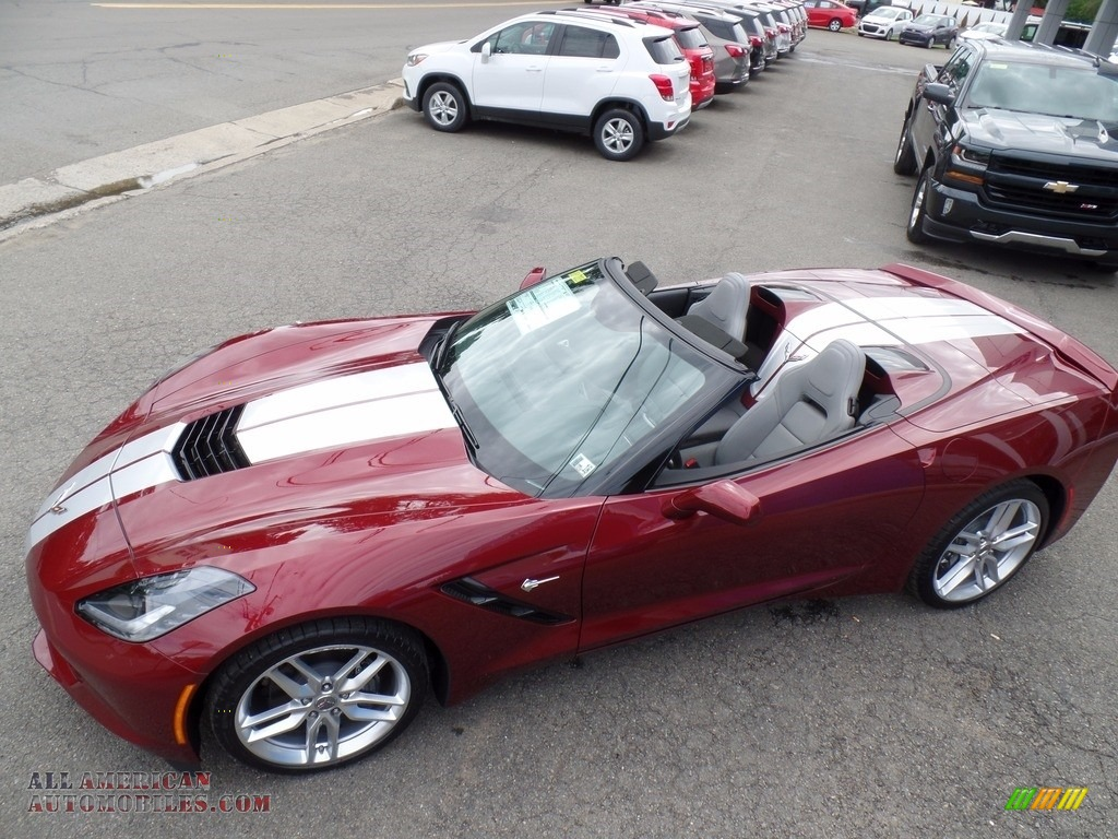 2018 Corvette Stingray Convertible - Long Beach Red Metallic Tintcoat / Gray photo #1