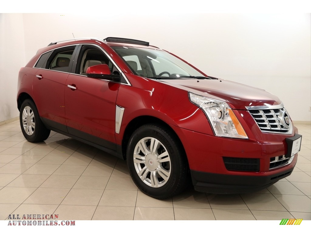 2013 SRX Luxury FWD - Crystal Red Tintcoat / Shale/Brownstone photo #1