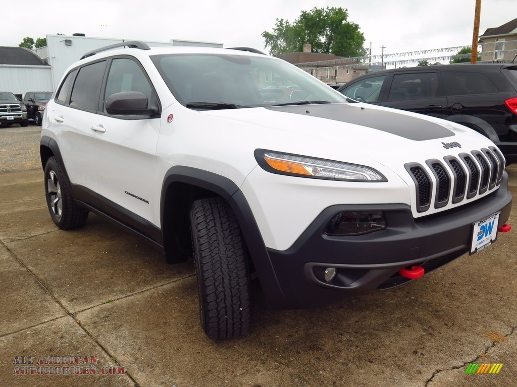 2017 jeep cherokee trailhawk 4x4 in bright white 229727 all american automobiles buy. Black Bedroom Furniture Sets. Home Design Ideas
