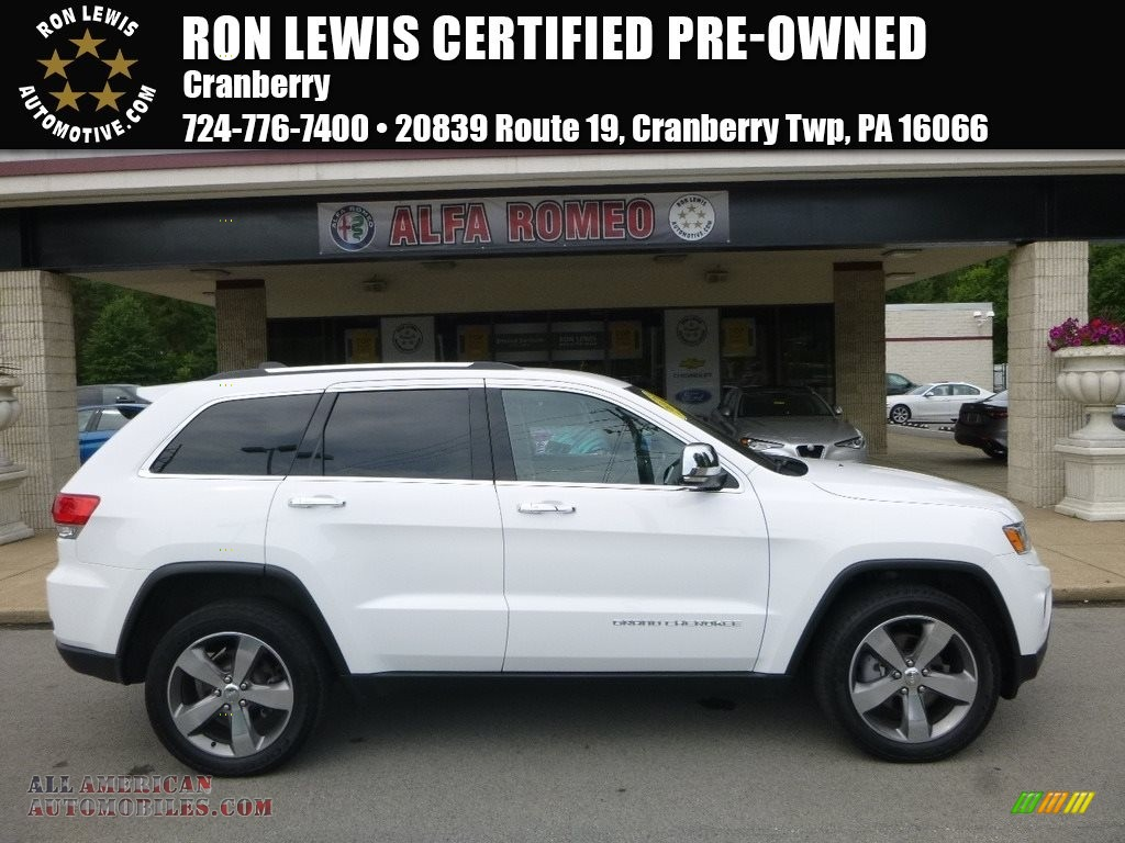 2015 Grand Cherokee Limited 4x4 - Bright White / Black/Light Frost Beige photo #1
