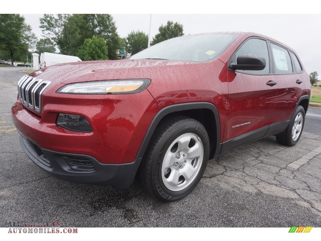 2017 Cherokee Sport - Deep Cherry Red Crystal Pearl / Black photo #1