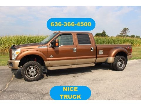 Golden Bronze Metallic 2011 Ford F350 Super Duty Lariat Crew Cab 4x4 Dually